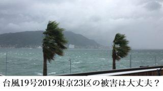台風19号2019東京23区の被害は大丈夫?強いのか米軍の進路予想情報!