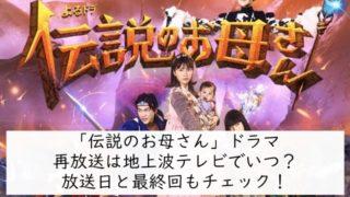 伝説のお母さんドラマ再放送は地上波テレビでいつ?放送日と最終回もチェック!