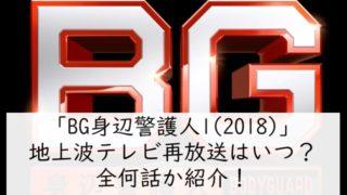 「BG身辺警護人1(2018)」地上波テレビ再放送はいつ?全何話か紹介!